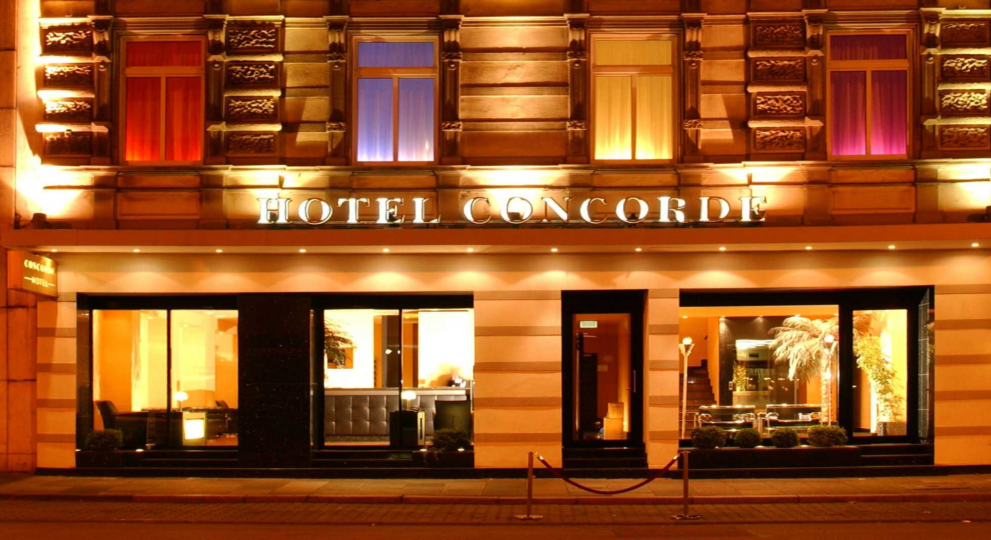 Hotel Facade by night